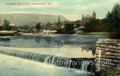 Potomac River Dam - Cumberland, Maryland MD Postcard