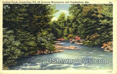Licking Creek - Cumberland, Maryland MD Postcard