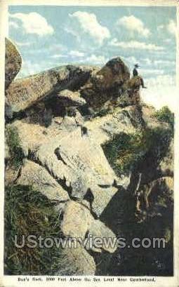 Dan's Rock - Cumberland, Maryland MD Postcard