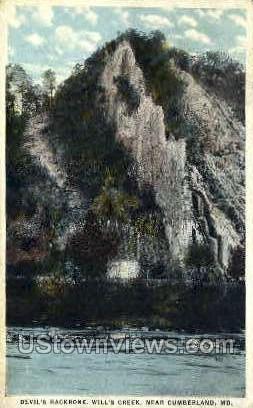 Devil's Backbone, Will's Creek - Cumberland, Maryland MD Postcard