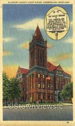 Allegany County Court House - Cumberland, Maryland MD Postcard