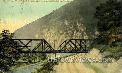 W.M.R.R. Bridge - Cumberland, Maryland MD Postcard