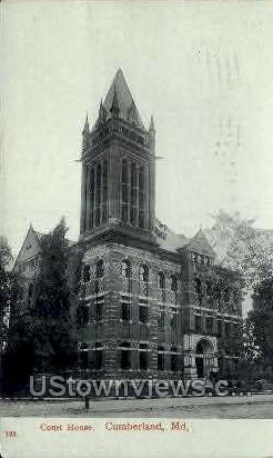 Court House - Cumberland, Maryland MD Postcard