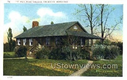 Y Hut, Hood College - Frederick, Maryland MD Postcard