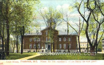Court House - Frederick, Maryland MD Postcard