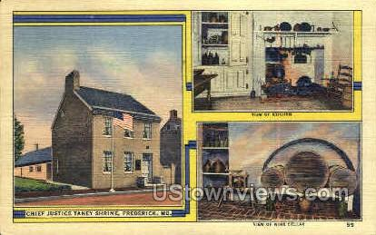 Chief Justice Taney Shrine - Frederick, Maryland MD Postcard