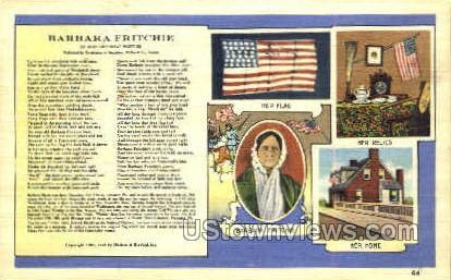 Barbara Fritchie - Frederick, Maryland MD Postcard