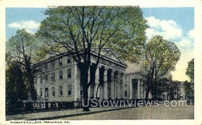 Woman's College - Frederick, Maryland MD Postcard