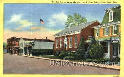 Bel Air Ave. - Aberdeen, Maryland MD Postcard