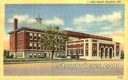 High School - Aberdeen, Maryland MD Postcard