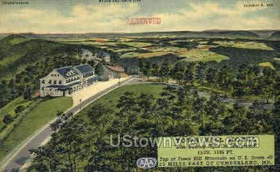 Town Hill Hotel - Cumberland, Maryland MD Postcard