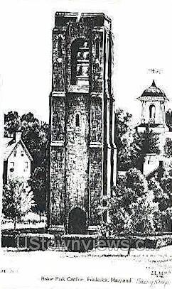Baker Park Carillon - Frederick, Maryland MD Postcard