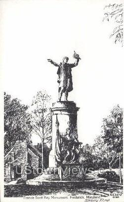 Francis Scott Key Monument - Frederick, Maryland MD Postcard