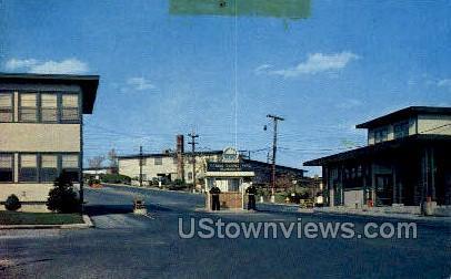 Main Gate, US Naval Academy - Bainbridge, Maryland MD Postcard