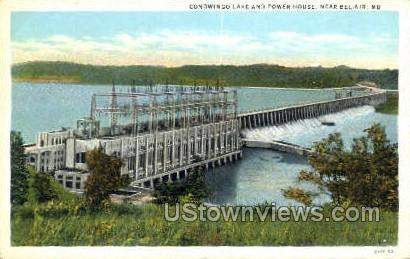 Conowingo Lake, Power House - Bel Air, Maryland MD Postcard