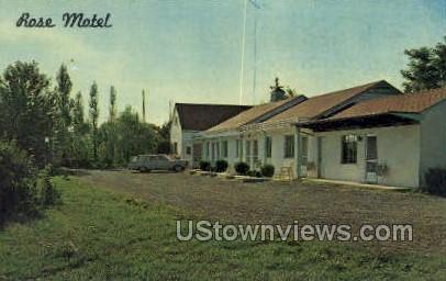 Rose Motel - Frederick, Maryland MD Postcard