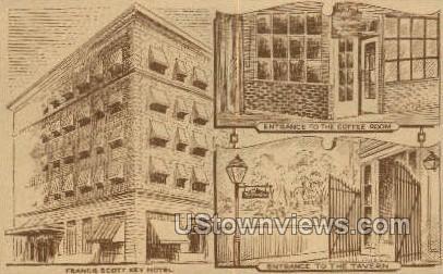 Francis Scott Key Hotel - Frederick, Maryland MD Postcard