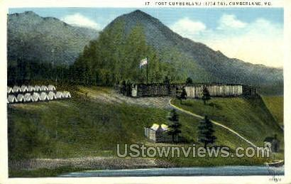 Fort Cumberland - Maryland MD Postcard