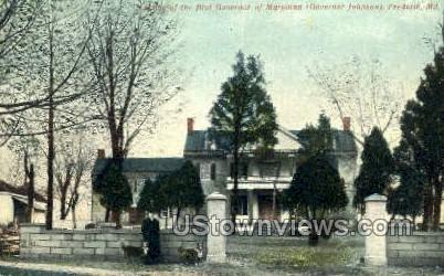 Governor of Maryland, Governor Johnson - Frederick Postcard