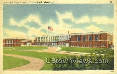 Fort Hills High School - Cumberland, Maryland MD Postcard