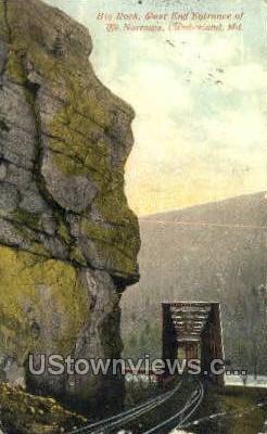 Big Rock, The Narrows - Cumberland, Maryland MD Postcard