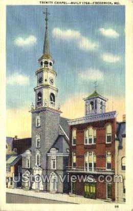 Trinity Chapel - Frederick, Maryland MD Postcard