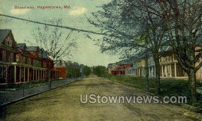 Broadway - Hagerstown, Maryland MD Postcard