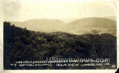 Yonker's Observation Tower - Cumberland, Maryland MD Postcard