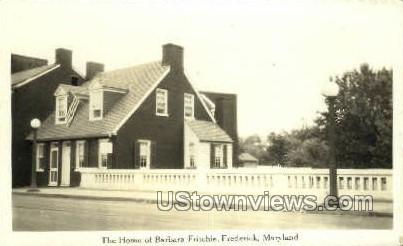 Real Photo - Home of Barbara Fritchie - Frederick, Maryland MD Postcard
