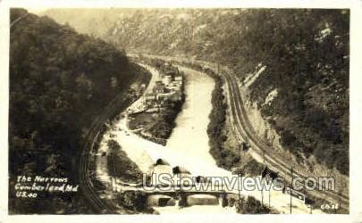 Real Photo - The Narrows - Cumberland, Maryland MD Postcard