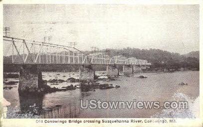 Old Conowingo Bridge - Maryland MD Postcard