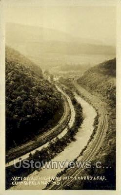 Real Photo - National Highway - Cumberland, Maryland MD Postcard