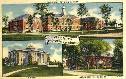 Greetings From University of Maine - Orono Postcard