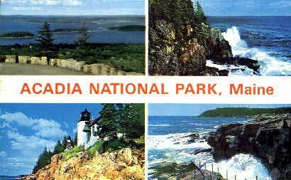 Acadia National Park, Maine, ME Postcard
