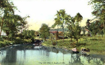 The Old Mill - East Auburn, Maine ME Postcard