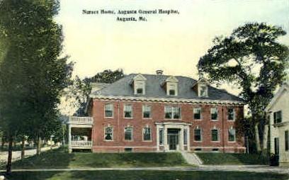 Nurses Home, Augusta General Hospital - Maine ME Postcard