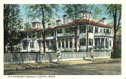 The Governor's Mansion - Augusta, Maine ME Postcard