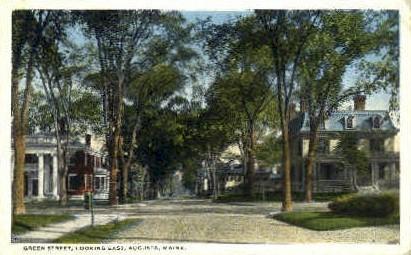 Green St. - Augusta, Maine ME Postcard