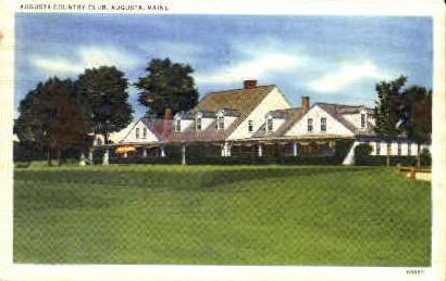 Augusta Country Club - Maine ME Postcard
