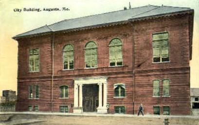 City Building - Augusta, Maine ME Postcard