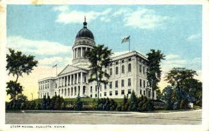 State House - Augusta, Maine ME Postcard