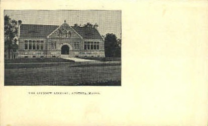 The Lithgow Library - Augusta, Maine ME Postcard