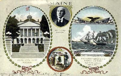 Augusta, Maine, ME Postcard