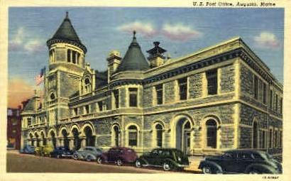 U.S. Post Office - Augusta, Maine ME Postcard