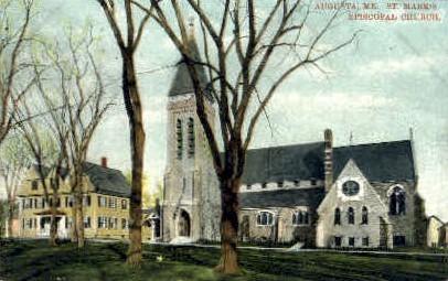 St. Mark's Episcopal Church - Augusta, Maine ME Postcard