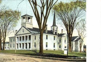 Court House - Augusta, Maine ME Postcard