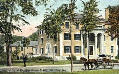 Residence of Ex. Gov. John F. Hill - Augusta, Maine ME Postcard