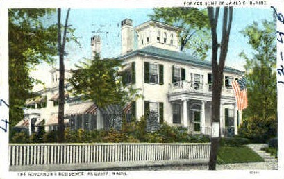The Governor's Residence - Augusta, Maine ME Postcard
