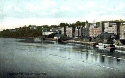 Waterfront - Augusta, Maine ME Postcard