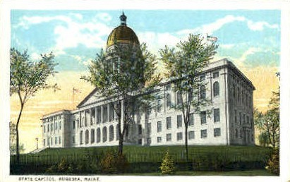 State Capitol - Augusta, Maine ME Postcard